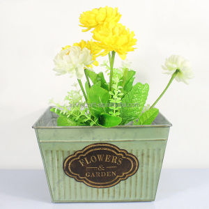 New designs metal decalflower pots cheap flower basin garden pots