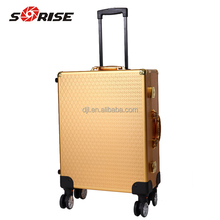 Aluminum professional rolling makeup trolley case with lights bluetooth speakers make up cosmetics