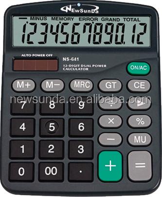 Desktop Calculator with 12 Digits (NS-641)