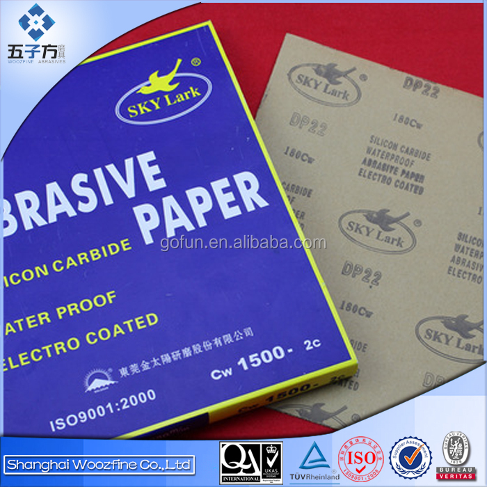 very competitive price electro coated silicon carbide waterproof abrasive paper DP22