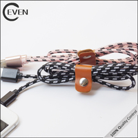 Colored Braided Nylon Aluminum Quick Charging Micro USB Cable for Samsung USB Cable