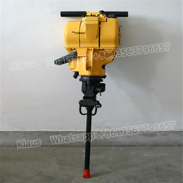 Max 6m Drilling Depth YN27C Model Gasoline Driven Rock Drill /Borehole Drilling Machine
