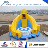 high quality inflatable bounce with diving platform
