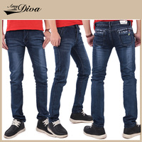 Wholesale windproof pure cotton fashion biker jeans trousers latest style denim jeans pants for men