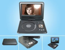 wholesale 7 inch widescreen 16:9, 270 degree rotating shaft portable dvd player