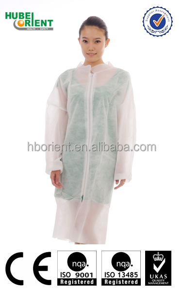 Wholesale Cheap Disposable Lab Coats With Zipper For Children