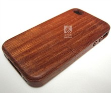Custom Beautiful Design two parts Wood Cell Case for iphone4,color sapele wood case