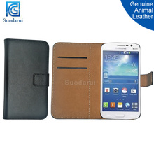Genuine animal leather Stand Wallet Flip phone Case for Samsung Galaxy Grand Neo+