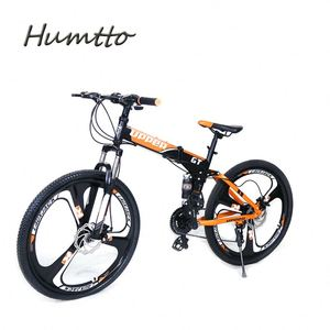 HUMTTO bicycle With Three Knife Aluminum Ring Alloy Frame Mountain Bike Bicycle
