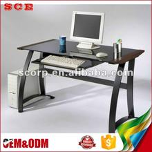 Taiwan Black Tempered Glass computer desk writing desk