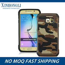 Best selling products outdoor stand case silicon PC armor case for samsung S6/S6 EDGE