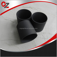 Hgh purity high density synthetic graphite crucible