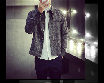 18Gentlemen's round collar long sleeve zipper thickens maintains warmth jacket for Atumn season,fom Guangzhou