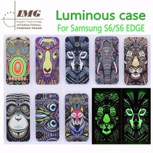 Luminous Animal's head design case for S6 edge , for samsung s6 edge case life of a king style