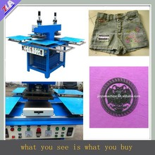 rational design automatic silicone rubber clothing label/logo making machine