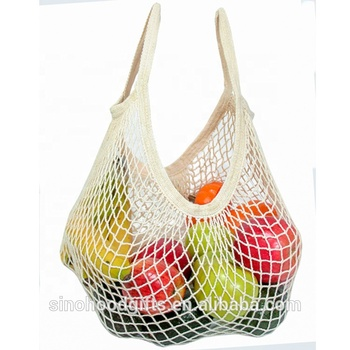 hot selling popular colors natural cotton mesh shopping bag