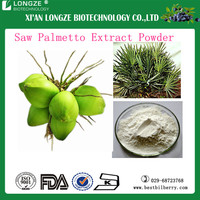 Pharmaceutical grade saw palmetto P.E/Serenoa Repens herbal extract /Saw Palmetto Extract with Fatty acid 25%-45%