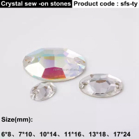 Most popular OEM design hanging glass crystals with different size for clothes