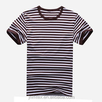 New design stripe pattern 100% cotton O-neck t-shirts china , men t-shirts