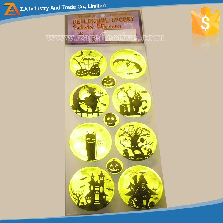 Halloween Factory Offer Customized Night Reflective Sticker