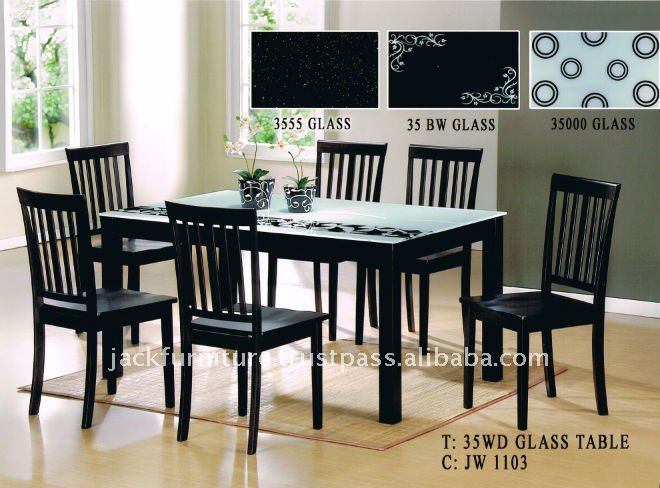 Glass Top Dining TableWooden Dining Table With Glass TopDining