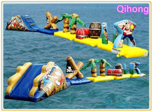 Hot sale ! inflatable water park floating aqua park equipment, inflation water games crazy water games