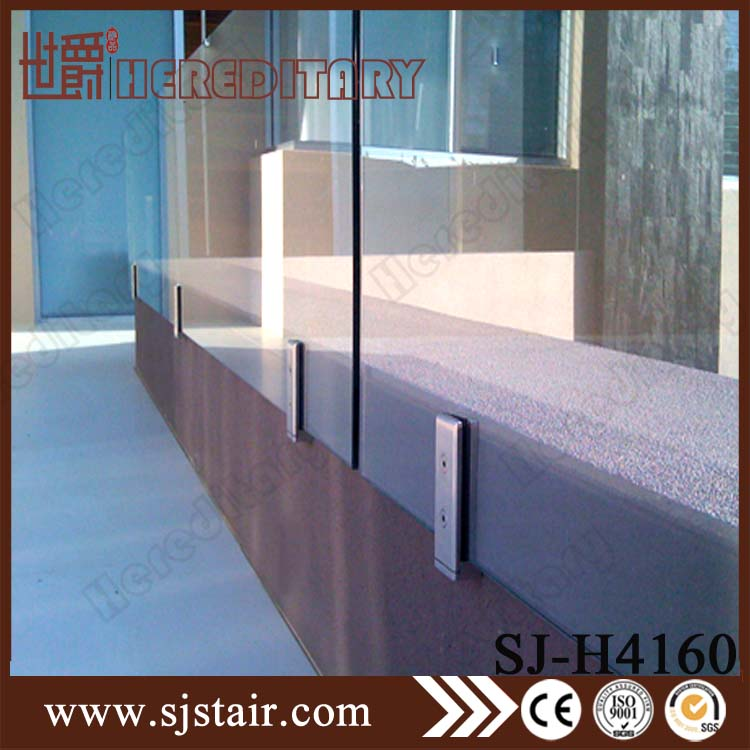 Wall Mounted Glass Spigot Balcony Handrail Stainless Steel Deck Railing System