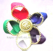 fashion handmade fabric zipper flower for Shoe Decorations
