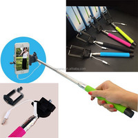 telescopic Sponge handle flexible channel selfie stick with zoom