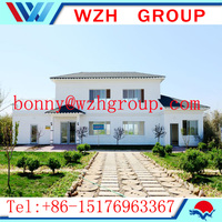 WZH Economic cost and permanent living prefabricated villa house