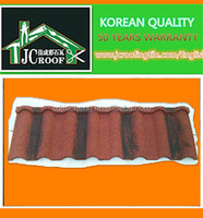 Stone coated metal roofing tiles , steel coated building materials