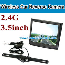 "VM-501A, wireless reverse camera and parking sensor,3.5"" wireless monitor,Real-time rear view while back up"