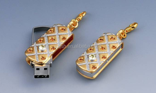 Slap-up jewellery golden/ silvery usb 2.0 swivel protable bulk 4gb usb flash drives with factory price high speed
