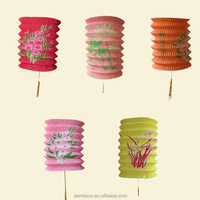 Chinese accordion paper lantern for Mid-Autumn Festival