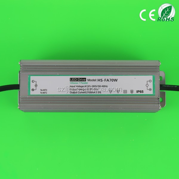 Output DC 27~40V 2100mA Waterproof IP65 Led T8 Tube Driver