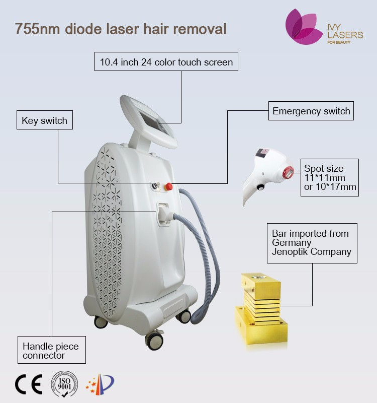 755nm laser hair removal permanent machine for legs, arms and upper lip etc. better than wax and halal cream