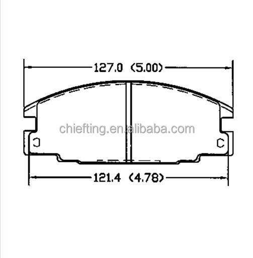For HONDA FORD OPEL ISUZU VAUXHALL D363 MK brake pad