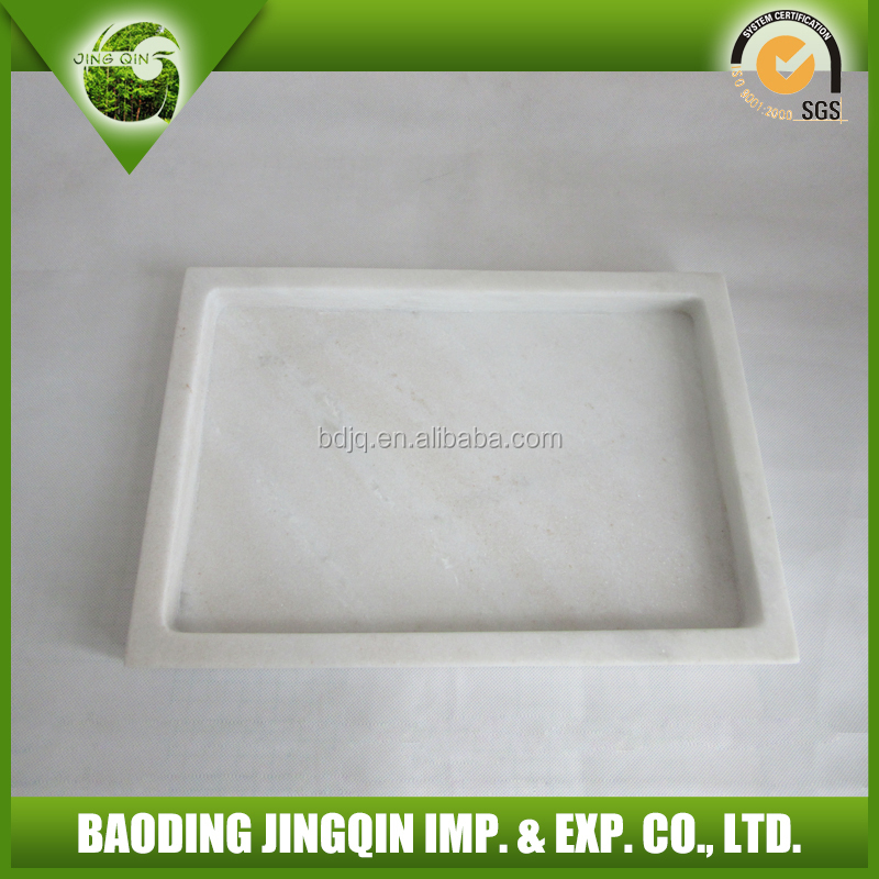 very beautiful white marble fruit plate
