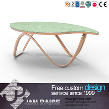 New design Chinese furniture high gloss glass coffee table whitout wheels