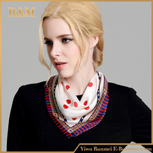 Cheap Natural luxury and handmade silk/polyester satin scarf