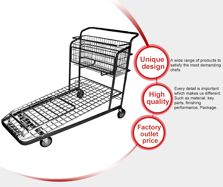 Factory Supply Furniture Mall Dimension Shopping Trolley