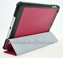 for iPad mini leather case / crocodile smart slim cover