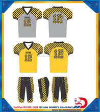 kids adult football uniform sublimation shoulder