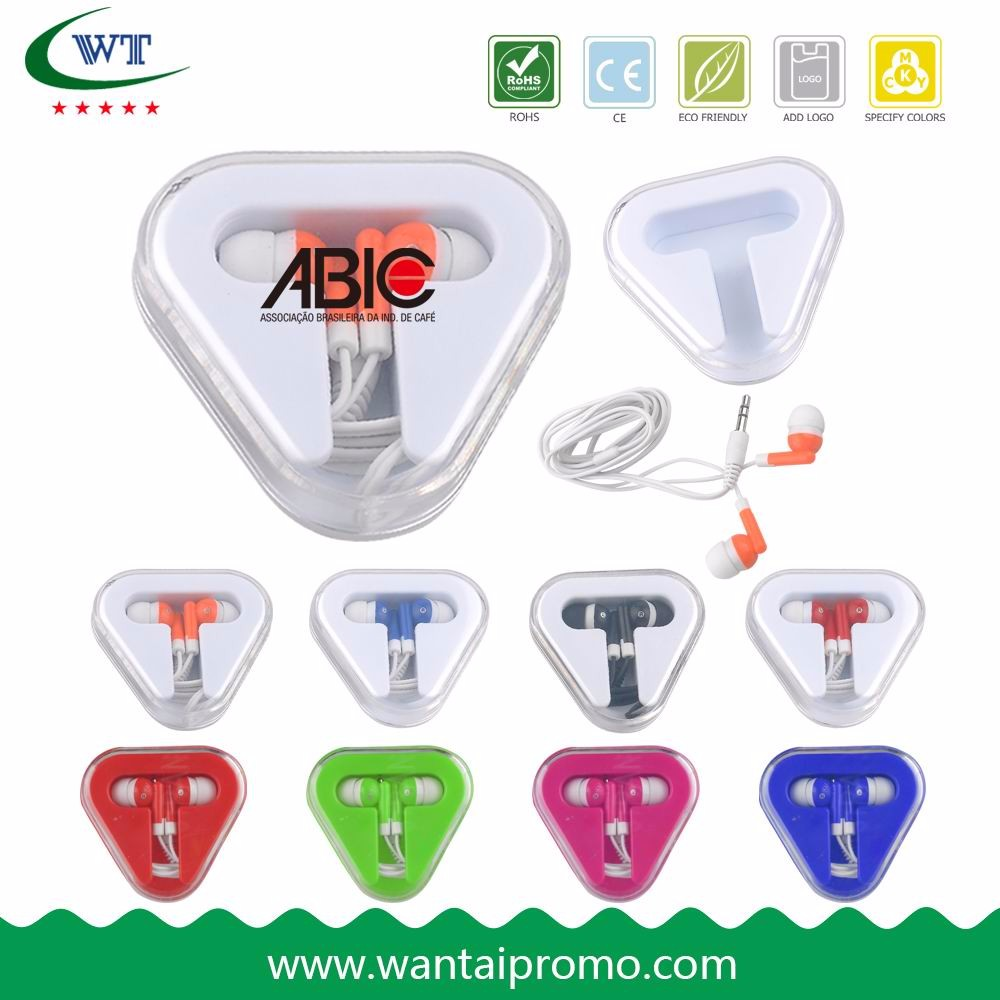 Promotional In Ear Earphones In Plastic Case Hot Sale earbud with mic price