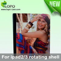 360 degree Rotating Sublimation Leather Case for Ipad2/3/4