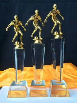 The high-end customized business trophy ornaments lettering annual meeting custom new creative crystal trophy zx