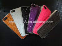 Cheap fashional mobile phone case Unique Dual-layer Cell Phone Case for Apple iPhone 4, Made of PC and Silicone