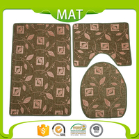 Stock Material Made Jacquard Forest Green 3 Pieces Rug Mat Set