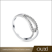 OUXI Factory Direct Sale Daily Wear Women Silver Ring Price