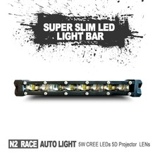N2 China off road accessories factory Cheap Bright Reliable LED Lights for DirtBike MOD 5QJ8H SUPER SLIM led bar 30 watt 8''